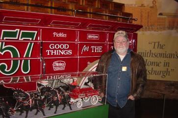 Harvey in front of the Heinz marketwagon
